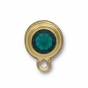 Earring Post Gold Emerald SS34 Sw F/b